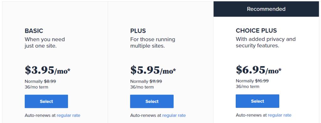Bluehost 價格